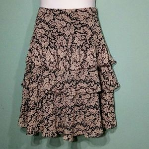 Lauren Ralph Lauren Silk Tiered Skirt